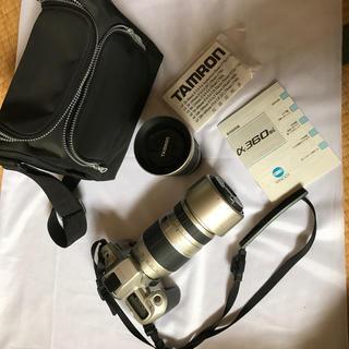 コニカミノルタ(KONICA MINOLTA)のミノルタα-360si  タムロンダブルズームセット望遠レンズ(フィルムカメラ)