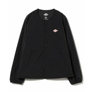 ダントン(DANTON)の新品 ダントン ナイロンタフタ インサーレーションジャケット black 42(ノーカラージャケット)