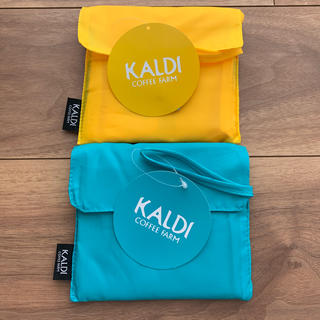 KALDI - カルディ エコバッグ ブルー イエロー