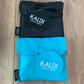 KALDI - カルディ エコバッグ ブラック イエロー