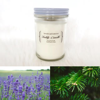 新品アロマキャンドル★天然ラベンダー&シダーウッドの香り