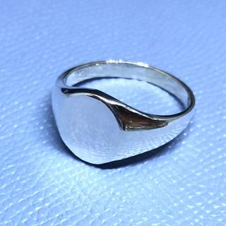 オーバル シグネット 印台 シルバー925リング メンズ 銀 ハンコ ギフト(リング(指輪))
