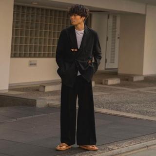 サンシー(SUNSEA)のSUNSEA 20ss Wide Straight Pants【サイズ3・黒色】(スラックス)