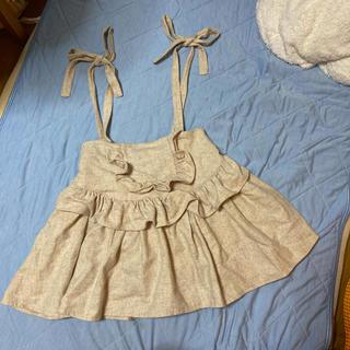 イートミー(EATME)のベージュリボンスカート(ミニスカート)