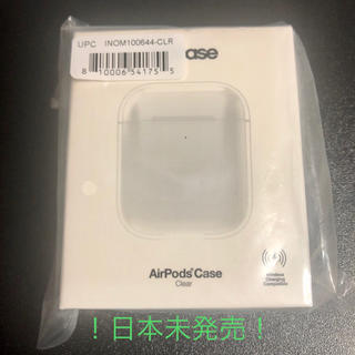 インケース(Incase)の【日本未発売・お値下げ】インケース air pods ケース クリアー(その他)
