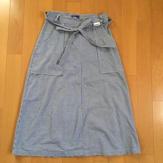 ケンペル(KEMPEL)のギンガムチェックのまきスカート(ひざ丈スカート)