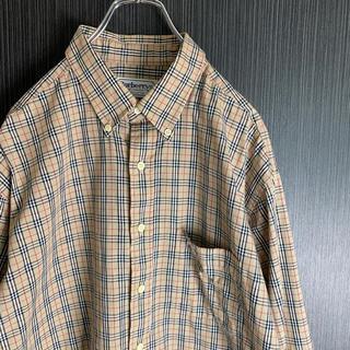バーバリー(BURBERRY)の希少XL 90s Burberry ノバチェック シャツ ビックサイズ(シャツ)