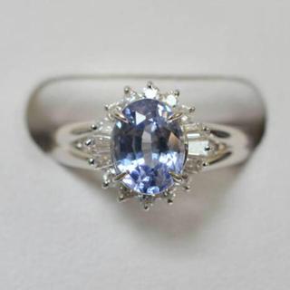 ジュエリーマキ(ジュエリーマキ)のジュエリーマキ プラチナ Pt850 サファイヤ ダイヤモンド リング 11号(リング(指輪))