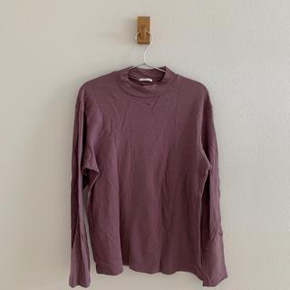 ジーユー(GU)のGU ラベンダー色ハイネック(Tシャツ/カットソー(七分/長袖))