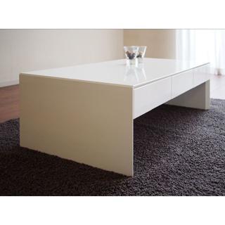 MRL4-W1 リビングテーブル センターテーブル ホワイト 収納(ローテーブル)
