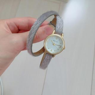 スタディオクリップ(STUDIO CLIP)の2重巻き 腕時計 グレー(腕時計)