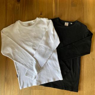 アヴィレックス(AVIREX)のAVIREX 丸首ロンティー 白黒セット(Tシャツ/カットソー(七分/長袖))