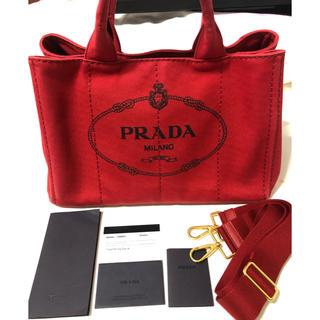 PRADA - PRADA カナパ プラダ ROSSO 赤 M レディース トートバッグ