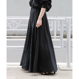 Plage - 未使用 2019SS Plage Linen フレアスカート ブラック 36