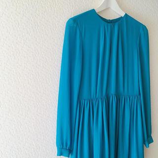 カレンウォーカー(KAREN WALKER)の美品 karen walker カレンウォーカー シフォン ワンピース ドレス(ひざ丈ワンピース)