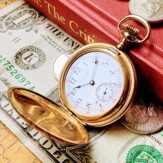 ウォルサム(Waltham)の#590【素敵なハンターケース】メンズ ウォルサム 懐中時計 1901年 0s (その他)
