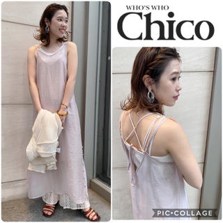 who's who Chico - 2020春の新作🌸新品タグ付き✨chicoシアーワンピース