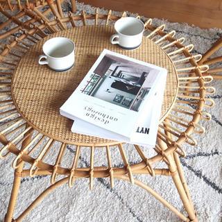 籐 アラログ ラタン センターテーブル リビングテーブル ⚠︎在庫確認要⚠︎(ローテーブル)