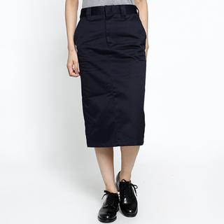 ハイク(HYKE)の新品タグ付☆ HYKE ワークタイトスカート 紺 ネイビー サイズ1 1.7万円(ひざ丈スカート)