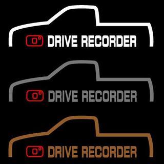 ドライブレコーダー ステッカー トラック 1枚(セキュリティ)