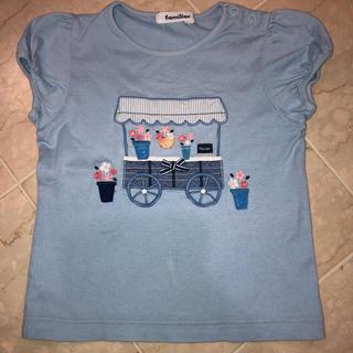 ファミリア(familiar)のfamiliar 女の子 刺繍 アップリケ Tシャツ 110cm(Tシャツ/カットソー)