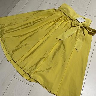 アンデミュウ(Andemiu)の最終値下げ 新品未使用 タグ付き アンデミュウ フレアスカート(ひざ丈スカート)