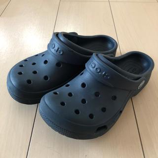 crocs - クロックス ネイビー サイズ J1 19cm