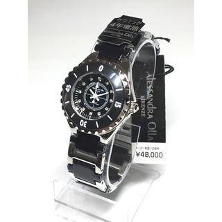 アレッサンドラオーラ(ALESSANdRA OLLA)のアレッサンドラオーラ  レディース  セラミック  天然ダイヤ  ブラック(腕時計)