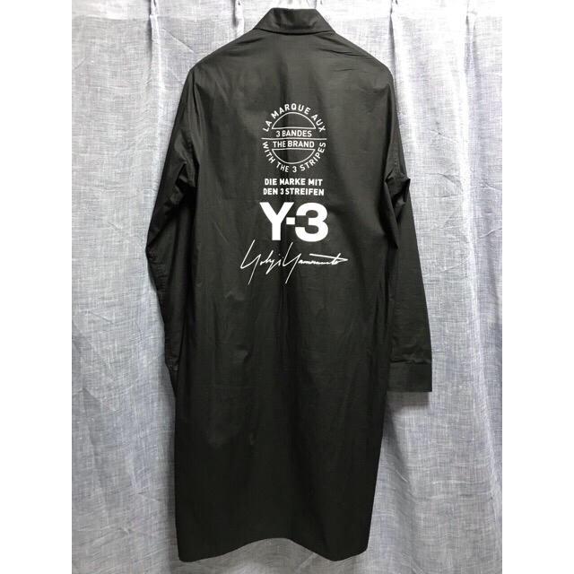 Y-3(ワイスリー)のY-3 ワイスリー  ロング スタッフシャツ CY6859 バックロゴ メンズのトップス(シャツ)の商品写真
