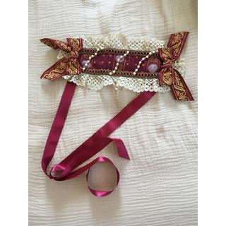 ベイビーザスターズシャインブライト(BABY,THE STARS SHINE BRIGHT)のBABY ボルドー色のヘッドドレス 新品未使用(ヘッドドレス/ドレス)