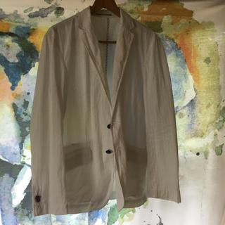 エービーエックス(abx)のホワイト ジャケット コットン100%  (テーラードジャケット)