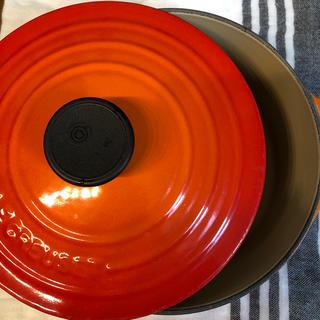 ルクルーゼ(LE CREUSET)のルクルーゼ ✨中古品!ココットロンド18センチ(鍋/フライパン)