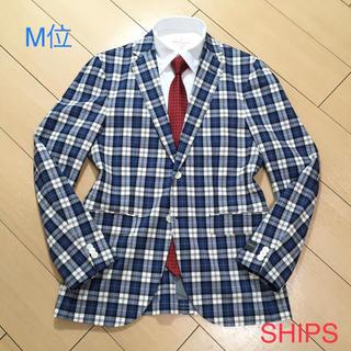 SHIPS - 新品/定価4万★シップス×高級コットン生地チェックジャケット紺×白×黄/A697