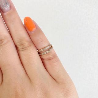 【確認用】K10 2連 ダイヤ ピンキーリング(リング(指輪))