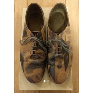 オータ(ohta)のレア Ohta 紫石靴 レザー 総柄 25.5-26cm(スニーカー)