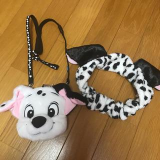 ディズニー(Disney)のディズニー 101匹わんちゃん ヘアバンド コインケース パスケース(ヘアバンド)