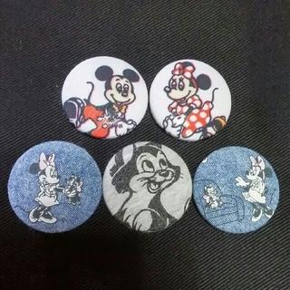 ディズニー(Disney)のくるみボタン ミキミニ ハンドメイド(各種パーツ)