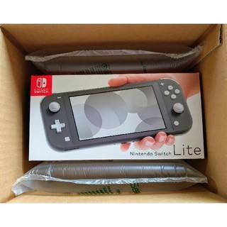ニンテンドースイッチ(Nintendo Switch)の新品 未使用 送料込み Nintendo Switch lite グレー(家庭用ゲーム機本体)
