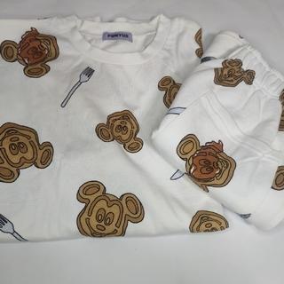 ディズニー(Disney)のディズニー ワッフル プニュズ 上下セット(Tシャツ(半袖/袖なし))
