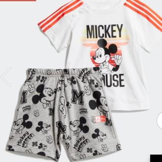 ディズニー(Disney)のadidas ミッキーマウス 子供服 半袖 半ズボン 60cmから100cm(パンツ/スパッツ)