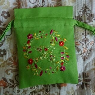 カルディ(KALDI)のカルディ バード巾着袋 ロータスティー入り ベトナム製(茶)