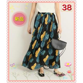 Spick and Span - 【38】新品 大人気 Spick & Span オオバナプリントギャザースカート