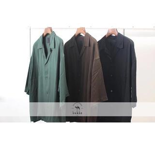 STUDIOUS - bukht ブフト open collar shirt オープンカラーシャツ