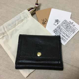 イルビゾンテ(IL BISONTE)のIL BISONTE  三つ折り財布 ブラック(折り財布)