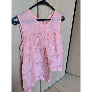 エニィスィス(anySiS)のピンクノースリーブシャツ(Tシャツ(半袖/袖なし))