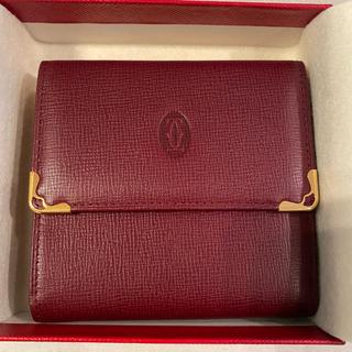 カルティエ(Cartier)のCartier must line 三つ折り財布 【誤って削除してしまい再出品】(財布)