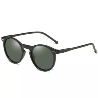 ザラ(ZARA)の新品 マットブラック×グリーンレンズサングラス UVカットおしゃれサングラス(サングラス/メガネ)