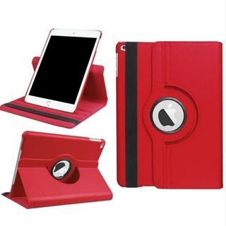 iPad Air/Air2 共用 レッド 360度回転機能付 レザーケース(iPadケース)