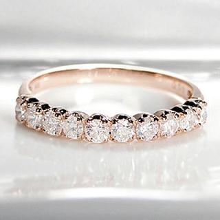 ダイヤモンド ハーフエタニティリング(リング(指輪))