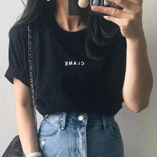 CLANE 半袖ロゴTシャツ ブラック